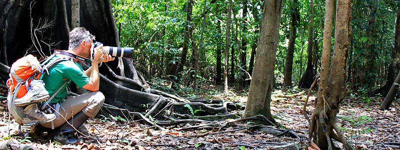 Amazonas, Colombia, Fotograf og researcher Jan Tvernø