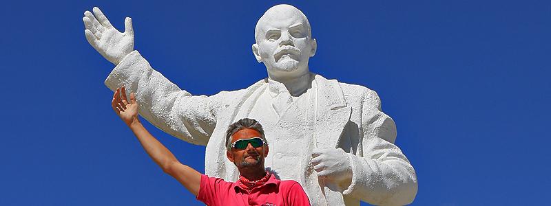 Leninstatue, Murghab, Pamir Highway, Tadsjikistan - Foredrag med Jan Tvernø - X-CCCP